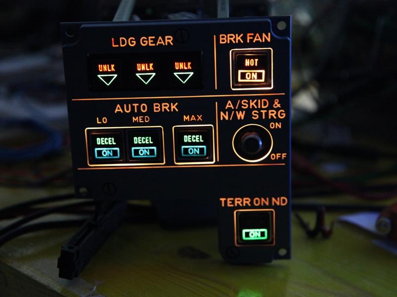 402VU LDG GEAR, BRK panel – SIMon A320