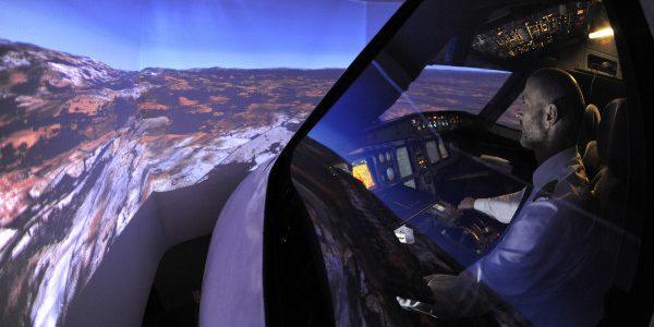 Igor's cockpit in spotlight.
