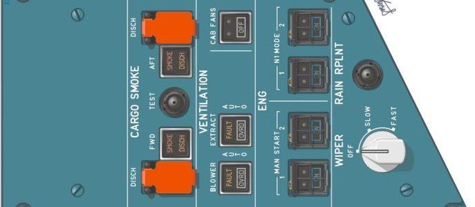 22VU ENG/VENT/CARGO SMOKE panel
