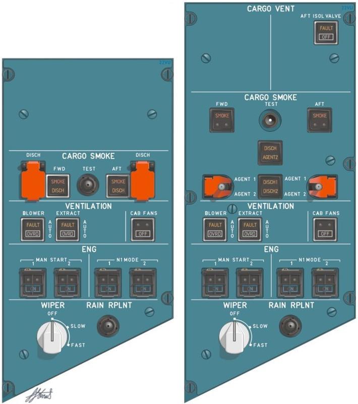 22VU ENG/VENT/CARGO SMOKE panel – SIMon A320